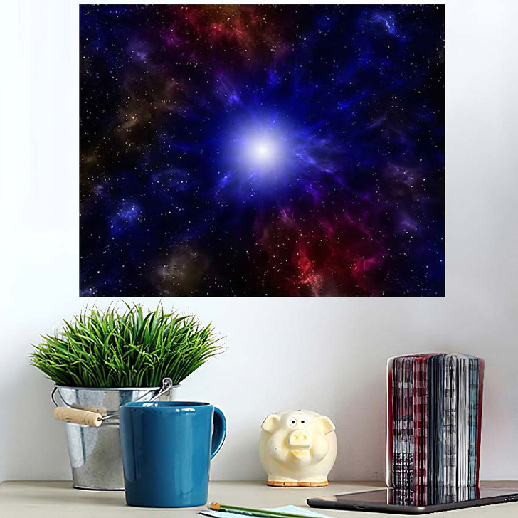 3D Illustration Planets Galaxy Science Fiction 11 - Galaxy Sky and Space Wall Art Poster