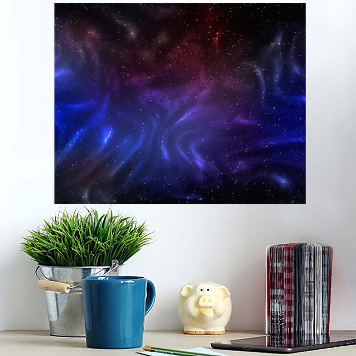 3D Illustration Planets Galaxy Science Fiction 12 - Galaxy Sky and Space Wall Art Poster