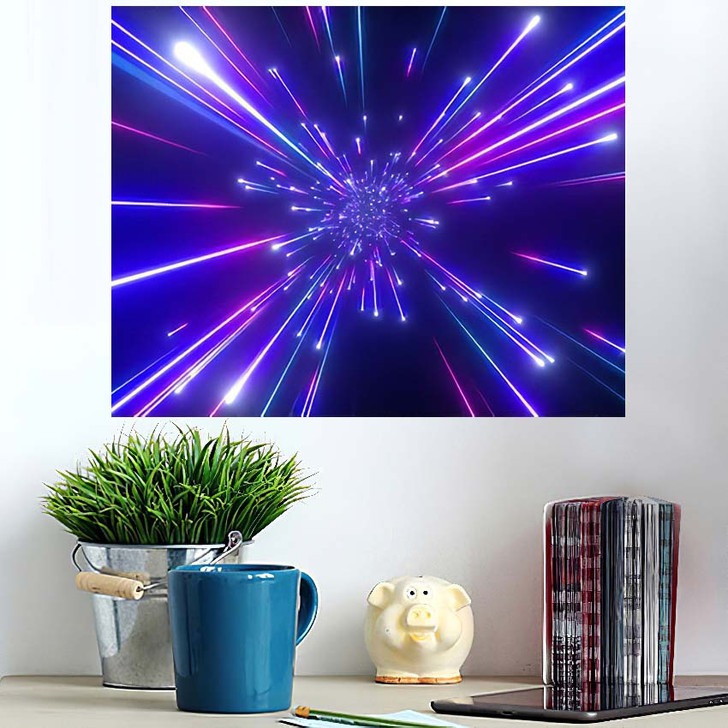 3D Render Big Bang Galaxy Abstract - Galaxy Sky and Space Wall Art Poster