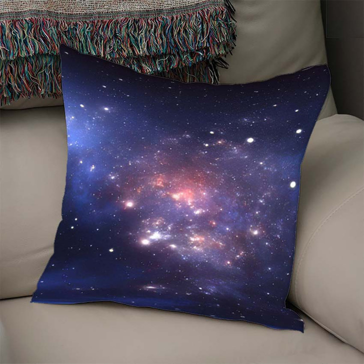 360 Degree Space Nebula Panorama Equirectangular - Sky and Space Linen Throw Pillow