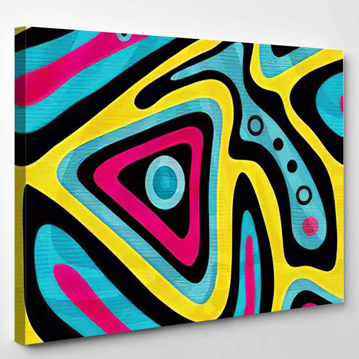 Graffiti Background Seamless Texture - Psychedelic Canvas Wall Decor