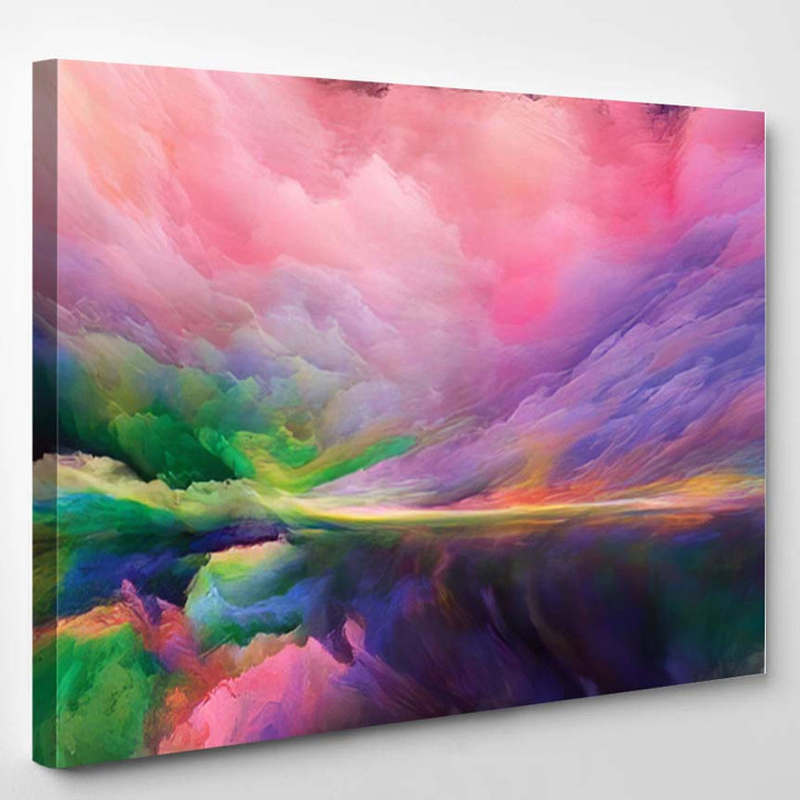 Inner World Series Composition Digital Colors - Psychedelic Canvas Wall Decor