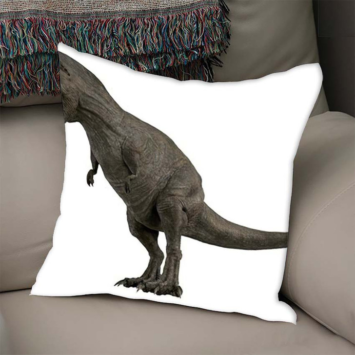 3D Rendered Trex Tyrannosaurus Rex 2 - Godzilla Animals Linen Throw Pillow
