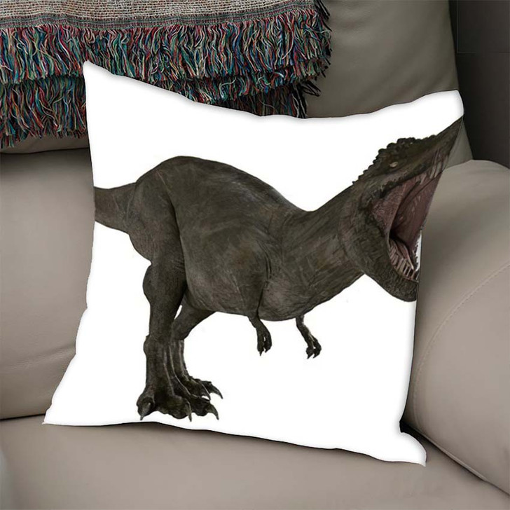 3D Rendered Trex Tyrannosaurus Rex 3 - Godzilla Animals Linen Throw Pillow
