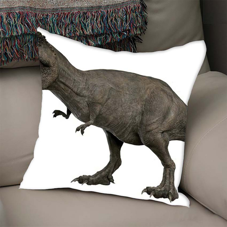 3D Rendered Trex Tyrannosaurus Rex 4 - Godzilla Animals Linen Throw Pillow