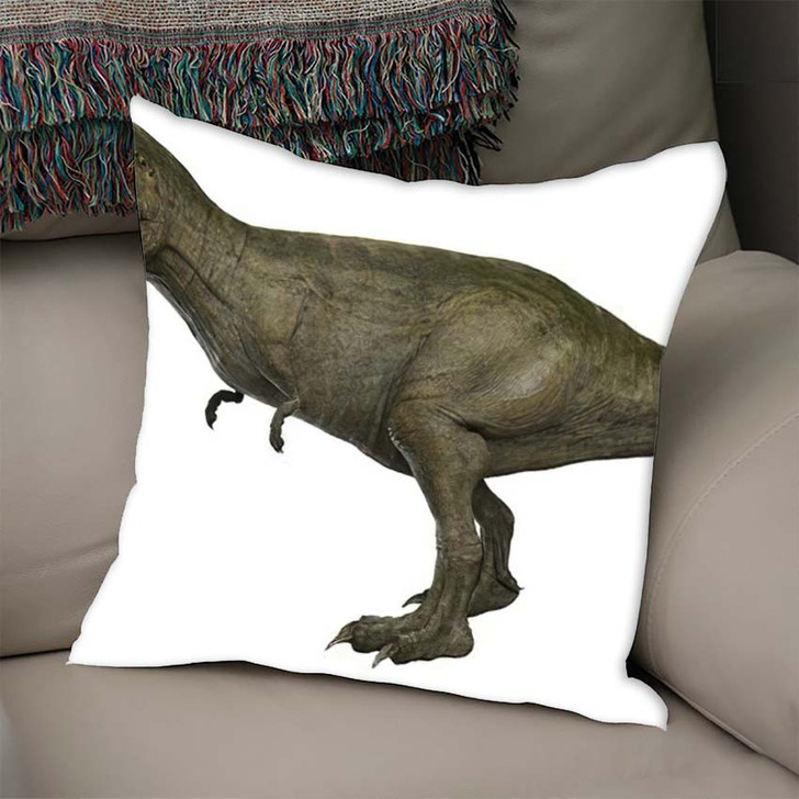 3D Rendered Trex Tyrannosaurus Rex 7 - Godzilla Animals Linen Throw Pillow