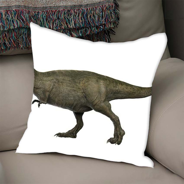 3D Rendered Trex Tyrannosaurus Rex 9 - Godzilla Animals Linen Throw Pillow