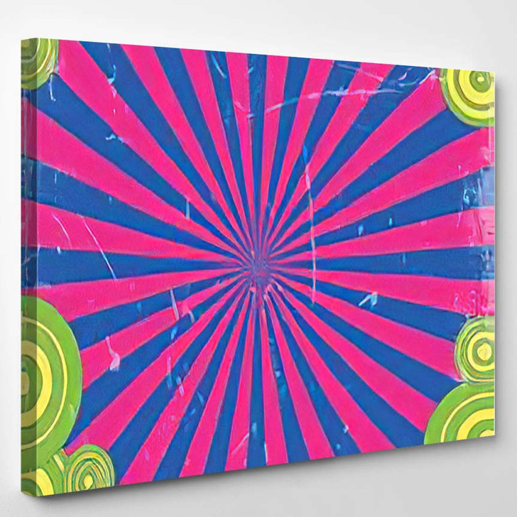 Original Frame Photo Groovy 1960S Style - Psychedelic Canvas Wall Decor