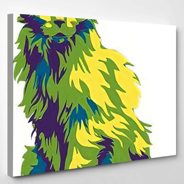 Psychedelic Cat - Psychedelic Canvas Wall Decor