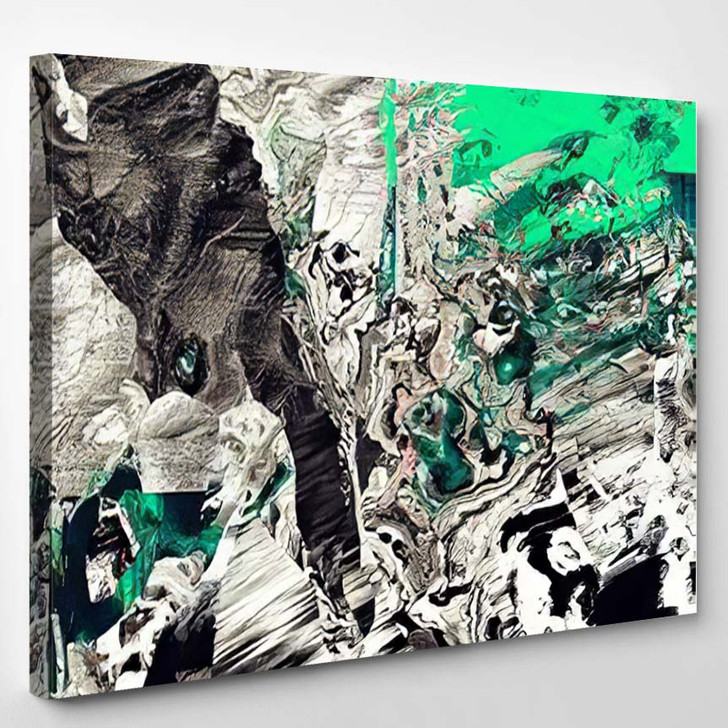 Psychedelic Distorted Background 1 - Psychedelic Canvas Wall Decor