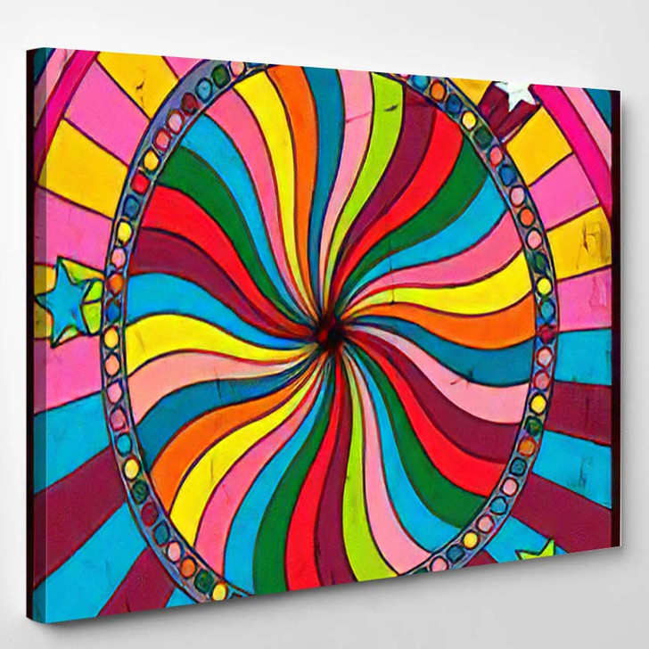 Psychedelic Poster Cover Background 1960S Style - Psychedelic Canvas Wall Decor