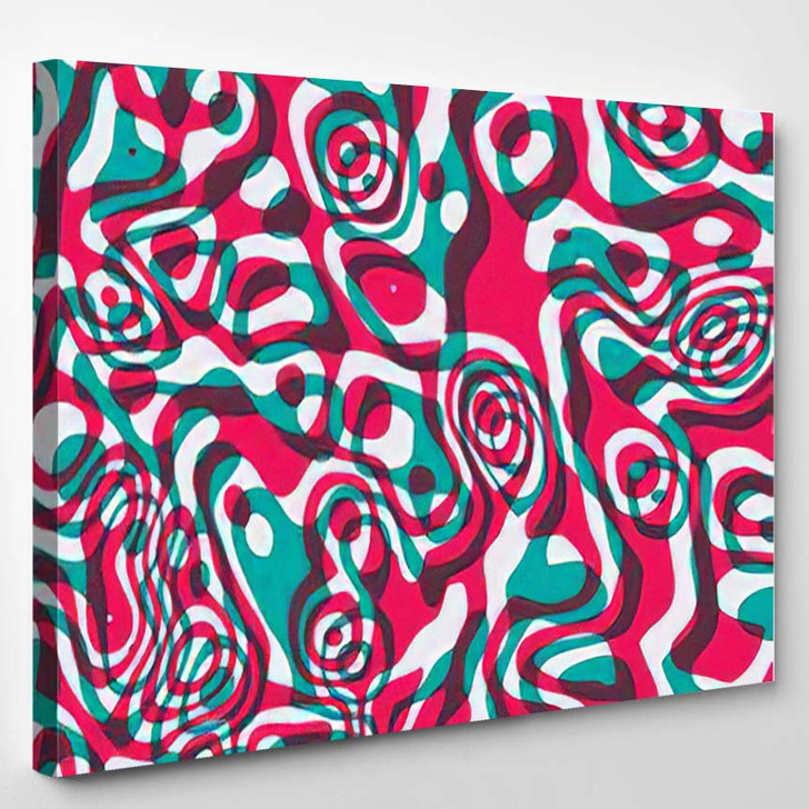 Psychedelic Seamless Acid Background - Psychedelic Canvas Wall Decor