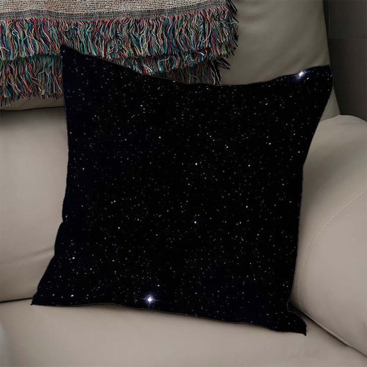 2D Illustration Deep Vast Space Stars 1 - Galaxy Sky and Space Linen Throw Pillow