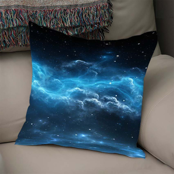 360 Degree Space Background Nebula Stars - Galaxy Sky and Space Linen Throw Pillow