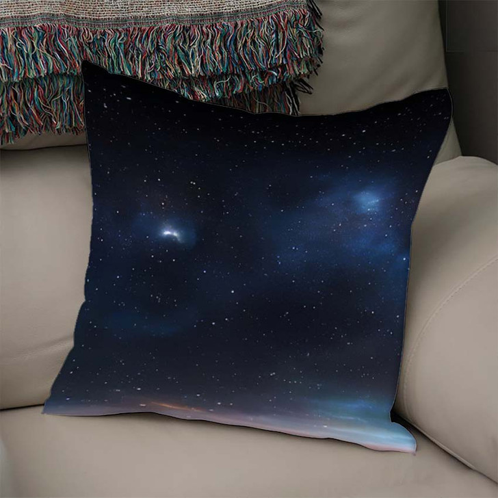 360 Degree Space Background Nebula Stars 1 - Galaxy Sky and Space Linen Throw Pillow