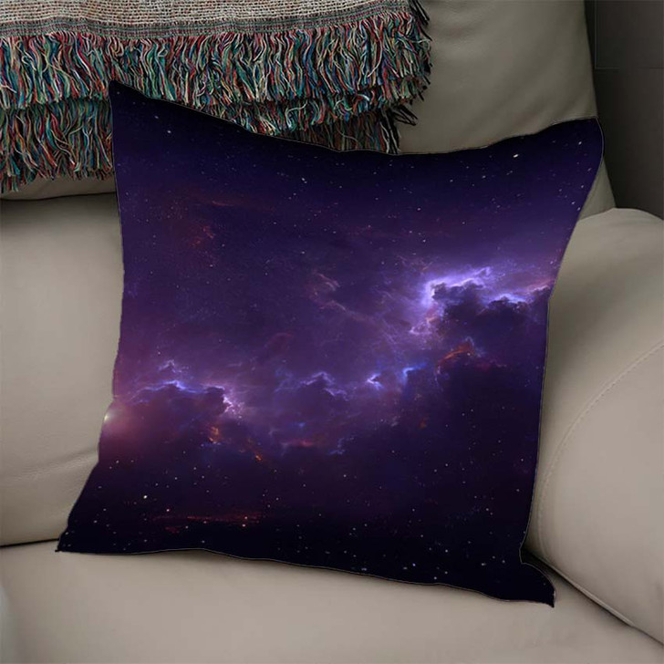 360 Degree Space Background Nebula Stars 2 - Galaxy Sky and Space Linen Throw Pillow