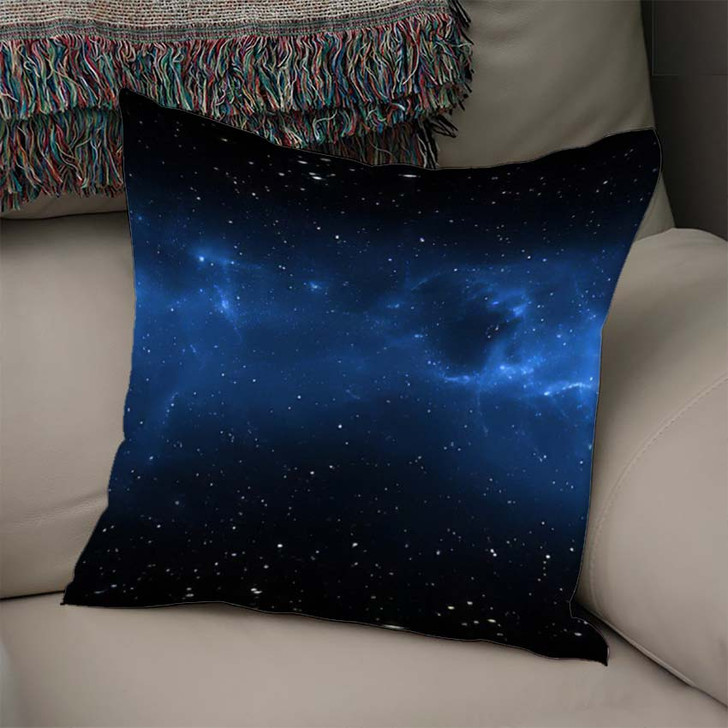 360 Degree Space Nebula Panorama Equirectangular 4 - Galaxy Sky and Space Linen Throw Pillow