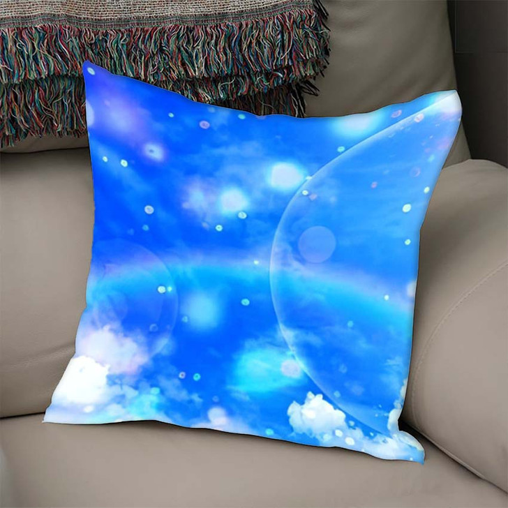 3D Illustration Fantastic Sky - Galaxy Sky and Space Linen Throw Pillow