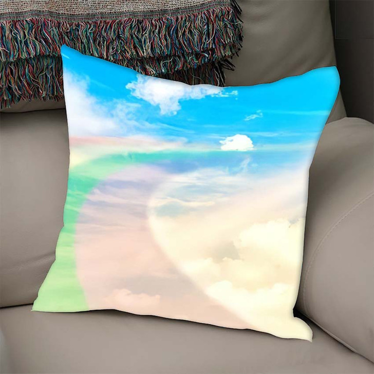 3D Illustration Fantastic Sky 1 - Galaxy Sky and Space Linen Throw Pillow