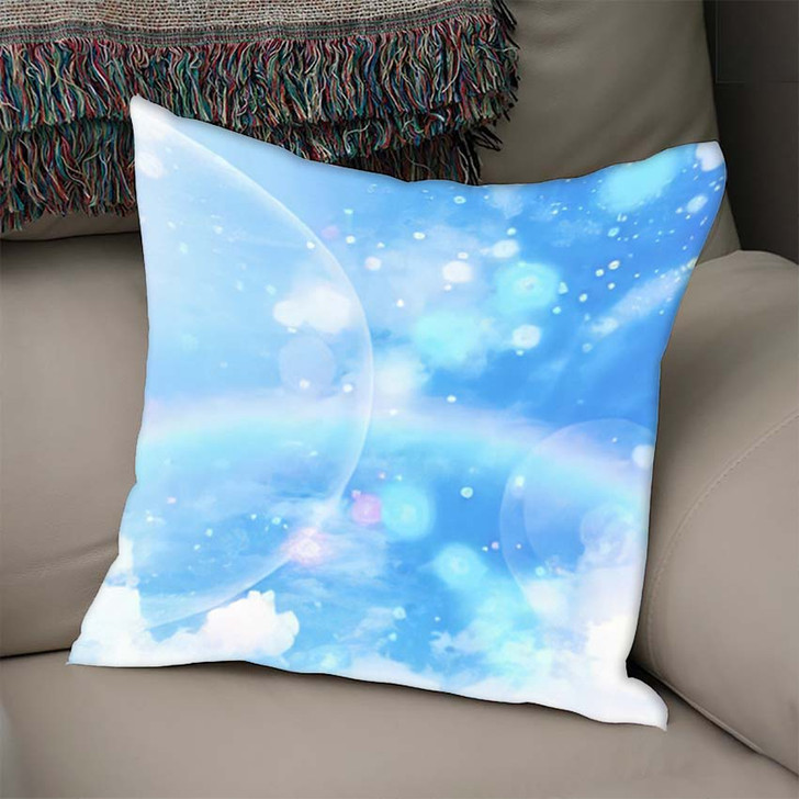 3D Illustration Fantastic Sky 2 - Galaxy Sky and Space Linen Throw Pillow