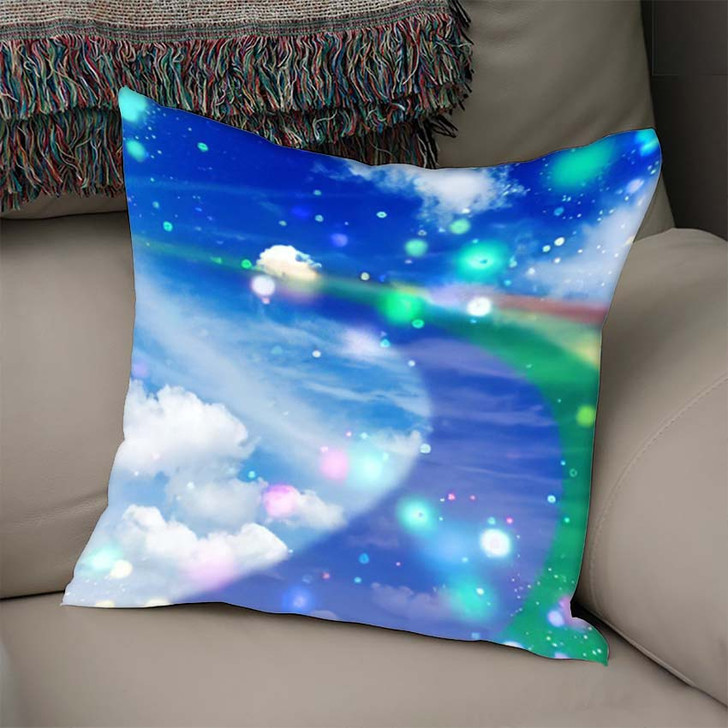 3D Illustration Fantastic Sky 3 - Galaxy Sky and Space Linen Throw Pillow