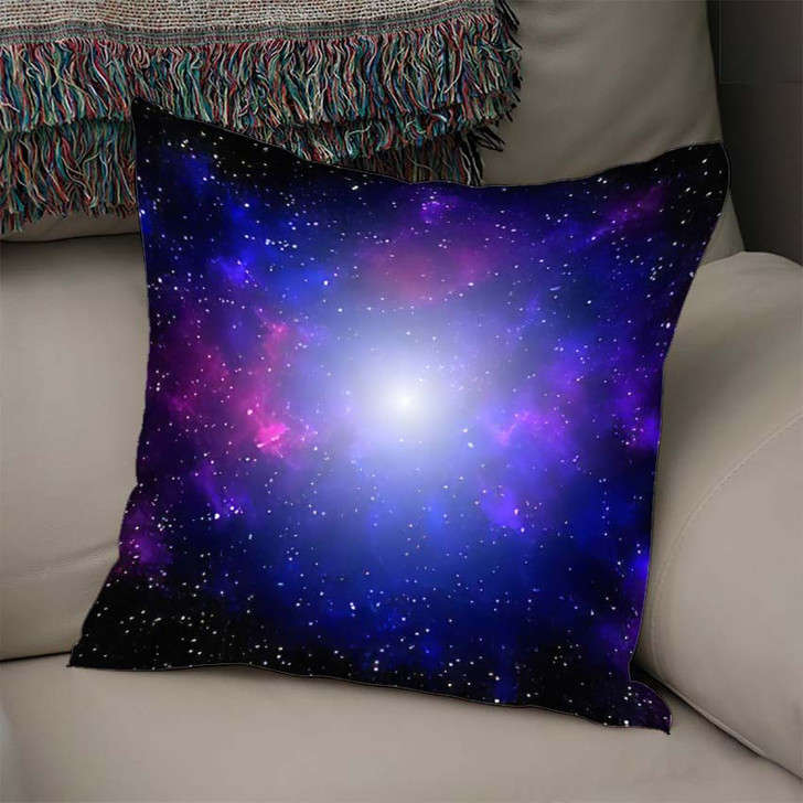 3D Illustration Galaxy Science Fiction Wallpaper - Galaxy Sky and Space Linen Throw Pillow