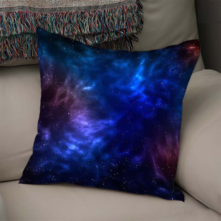 3D Illustration Planets Galaxy Science Fiction 7 - Galaxy Sky and Space Linen Throw Pillow