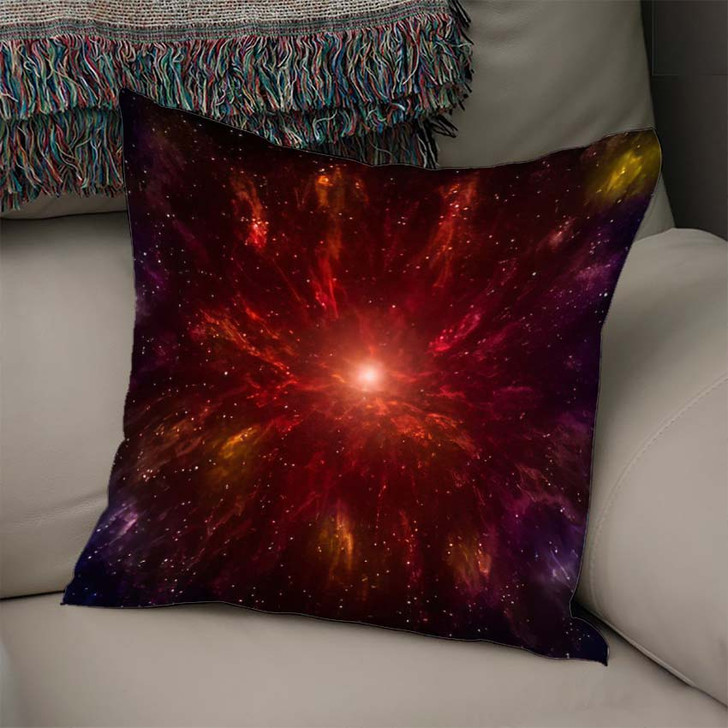 3D Illustration Planets Galaxy Science Fiction 9 - Galaxy Sky and Space Linen Throw Pillow