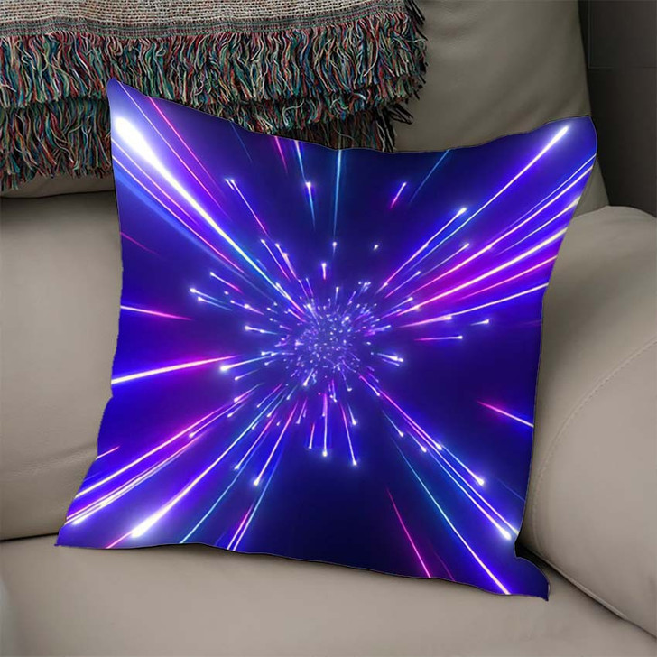 3D Render Big Bang Galaxy Abstract - Galaxy Sky and Space Linen Throw Pillow