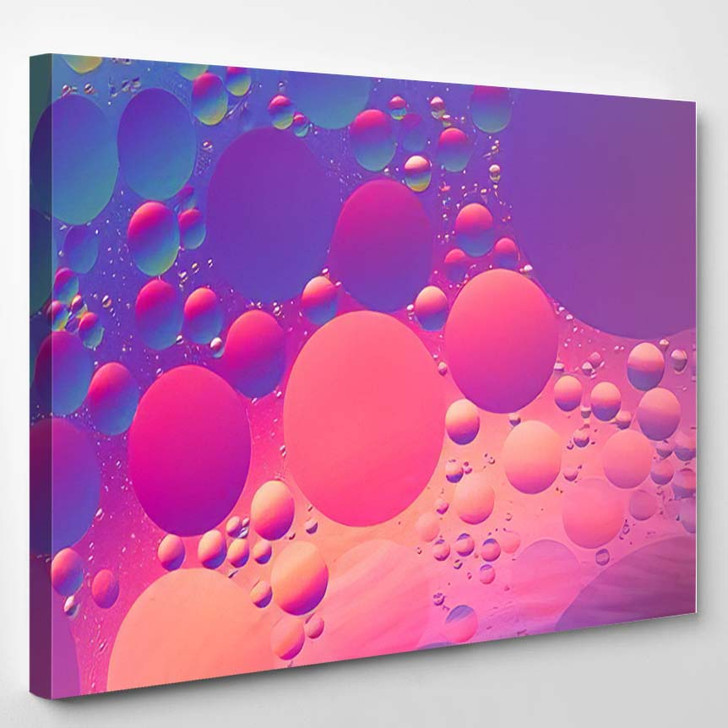 Purple Orange Red Blue Psychedelic Oil - Psychedelic Canvas Wall Decor