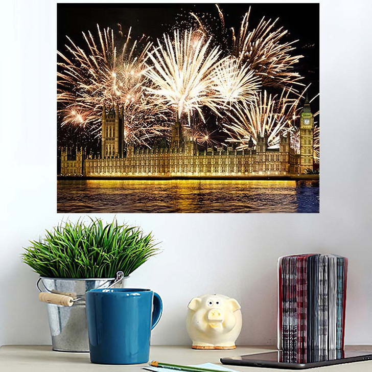 3D Illustration Big Ben Clock Tower - Landmarks and Monuments Wall Art Poster