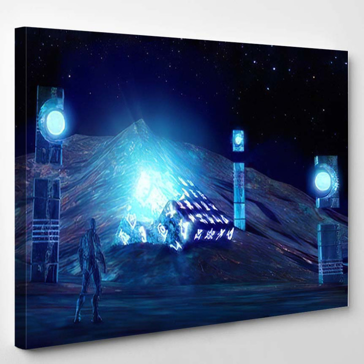 3D Illustration Fantastic World Ancient Artifacts - Fantastic Canvas Wall Decor