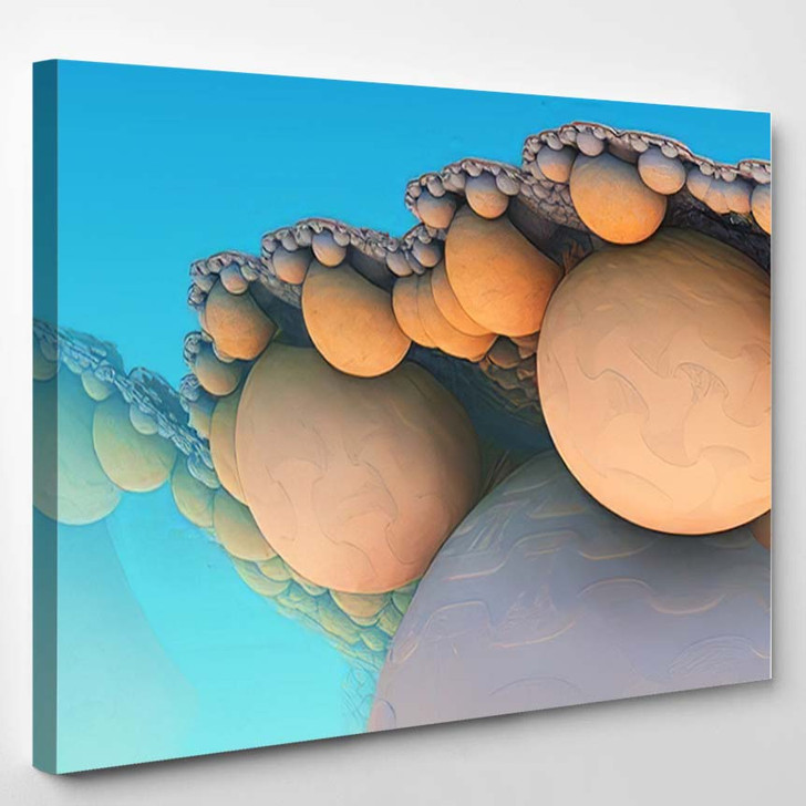 Abstract Background 3D Fantastic Gold Shapes - Fantastic Canvas Wall Decor