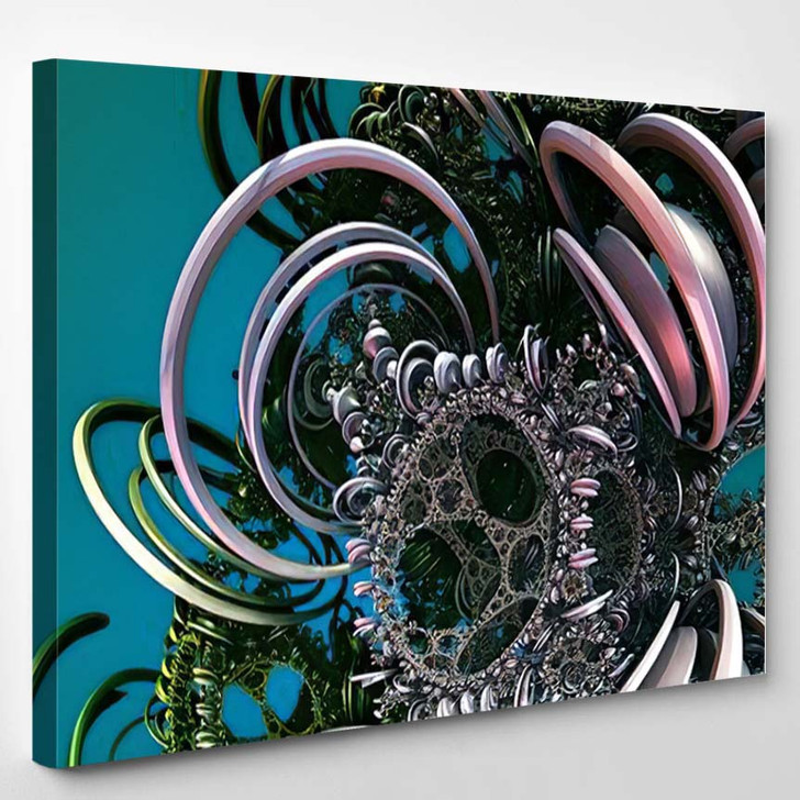 Abstract Background Fantastic 3D Circles Structures - Fantastic Canvas Wall Decor