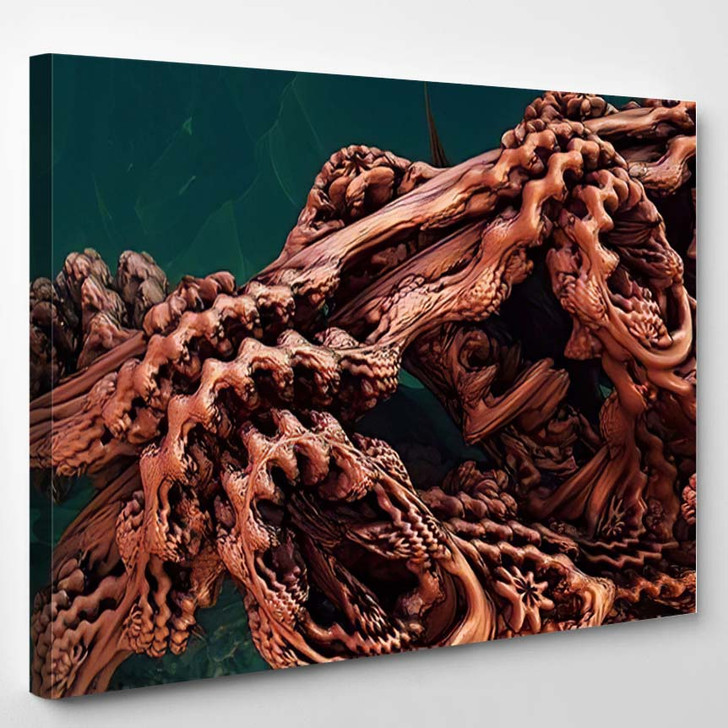Abstract Background Fantastic 3D Copper Structures - Fantastic Canvas Wall Decor