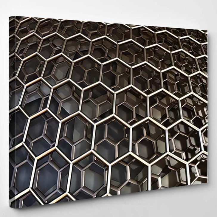 Abstract Background Fantastic 3D Hexagon Structure 1 - Fantastic Canvas Wall Decor