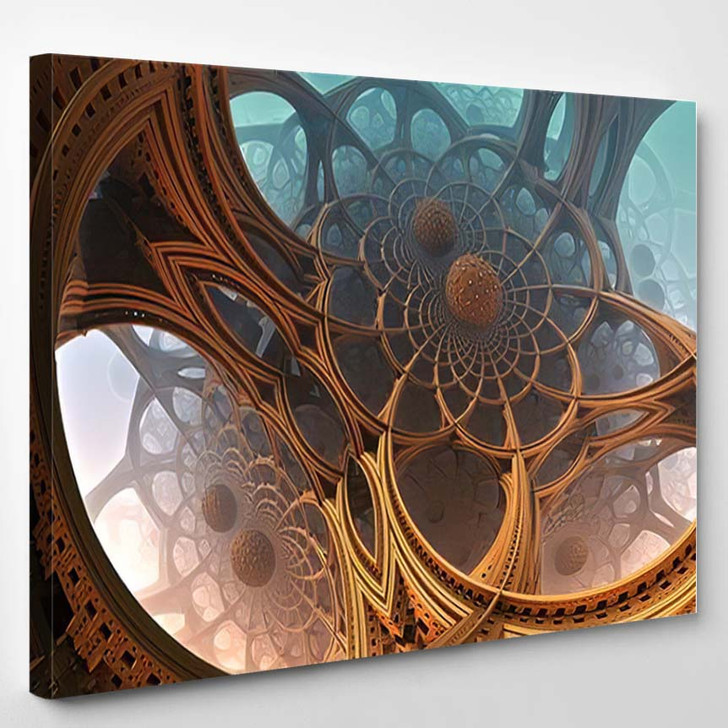 Abstract Background Fantastic 3D Structures Fictional - Fantastic Canvas Wall Decor