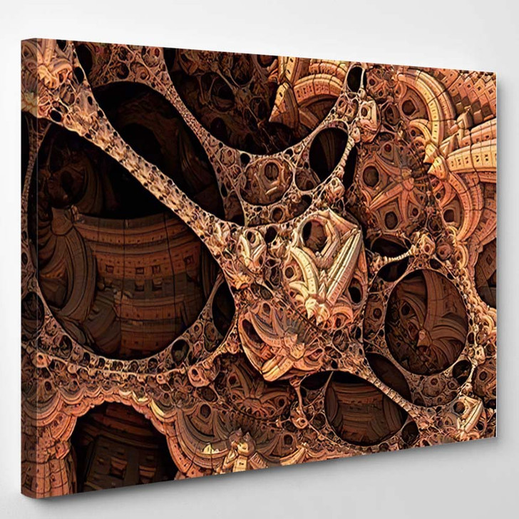 Abstract Background Fantastic 3D Structures Fictional 1 - Fantastic Canvas Wall Decor