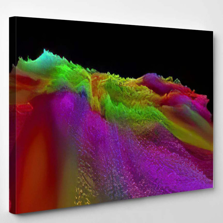 Abstract Textured Surface Fantastic Space Planet 3 - Fantastic Canvas Wall Decor
