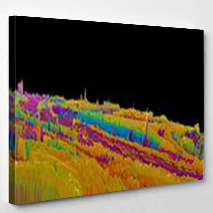 Abstract Textured Surface Fantastic Space Planet 5 - Fantastic Canvas Wall Decor