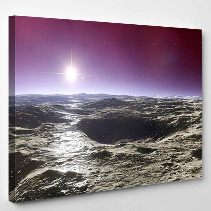 Beautiful View Exoplanet Alien Planet Computergenerated 9 - Fantastic Canvas Wall Decor