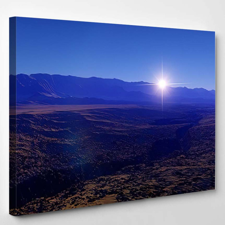 Beautiful View Exoplanet Alien Planet Computergenerated 24 - Fantastic Canvas Wall Decor