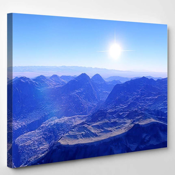 Beautiful View Exoplanet Alien Planet Computergenerated 28 - Fantastic Canvas Wall Decor