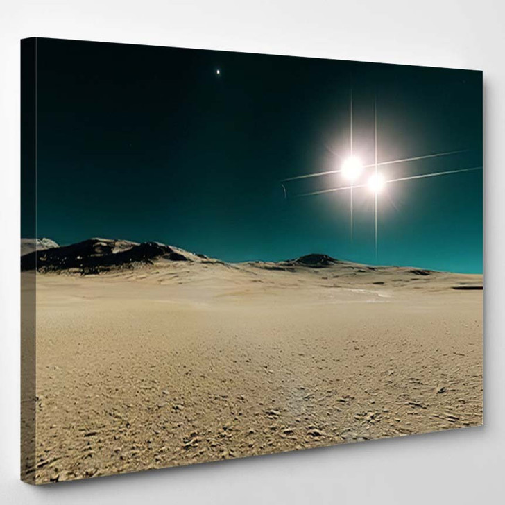 Beautiful View Exoplanet Alien Planet Computergenerated 33 - Fantastic Canvas Wall Decor