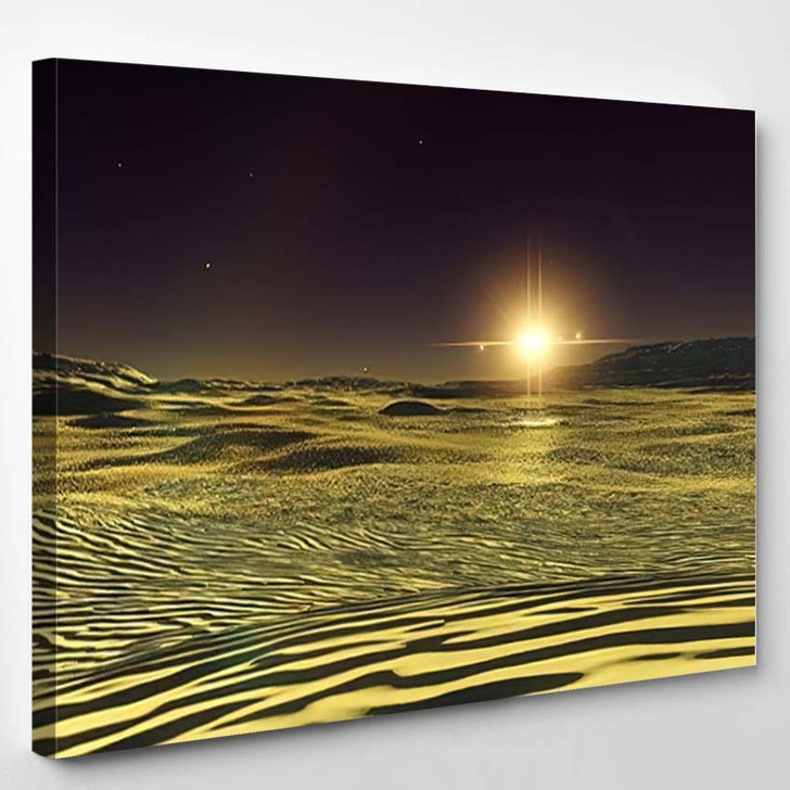 Beautiful View Exoplanet Alien Planet Computergenerated 56 - Fantastic Canvas Wall Decor
