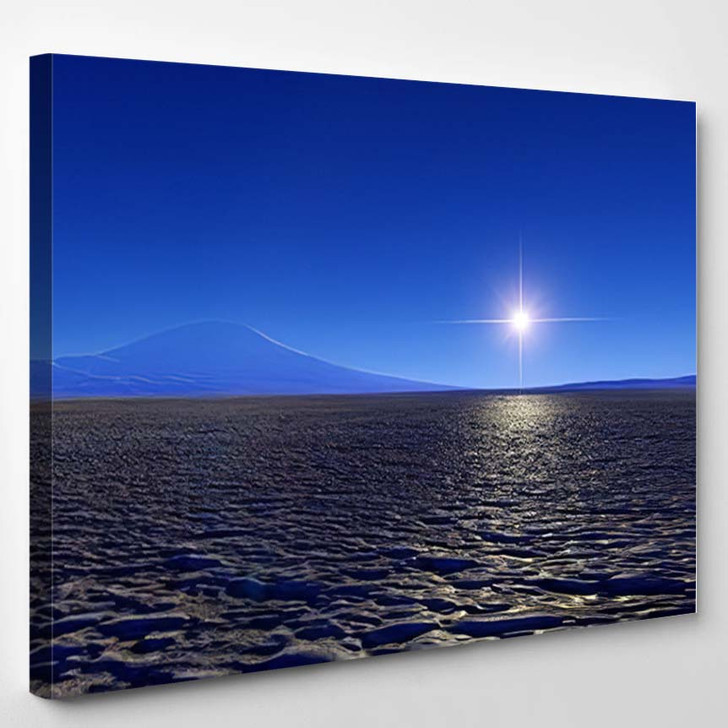 Beautiful View Exoplanet Alien Planet Computergenerated 60 - Fantastic Canvas Wall Decor