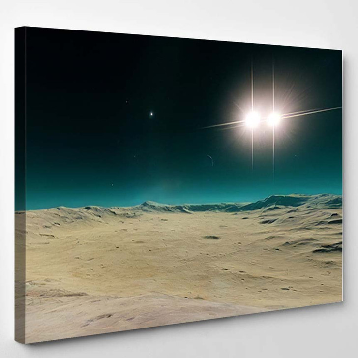Beautiful View Exoplanet Alien Planet Computergenerated 65 - Fantastic Canvas Wall Decor