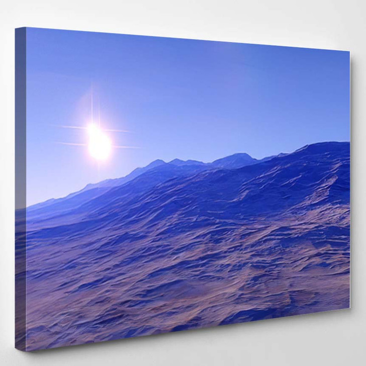 Beautiful View Exoplanet Alien Planet Computergenerated 79 - Fantastic Canvas Wall Decor