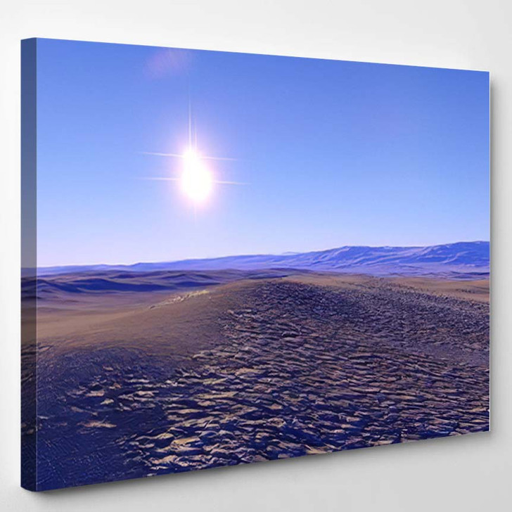 Beautiful View Exoplanet Alien Planet Computergenerated 94 - Fantastic Canvas Wall Decor