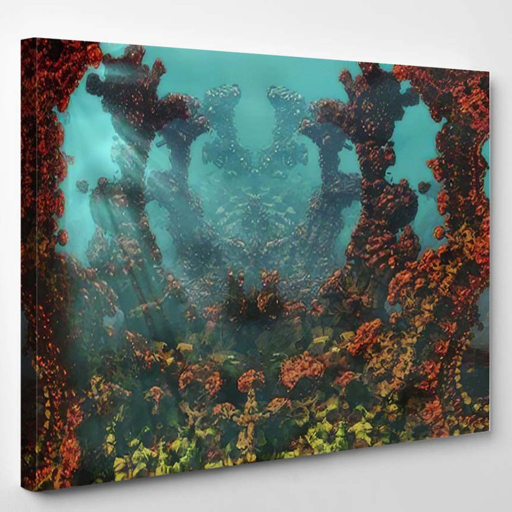 Fantastic 3D Image Underwater Coral Reef - Fantastic Canvas Wall Decor